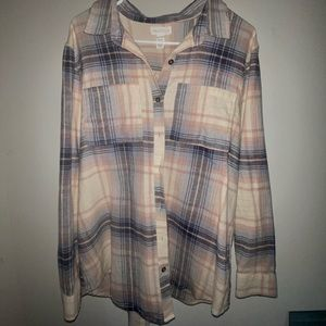 Oversized Tilly's women's flannel